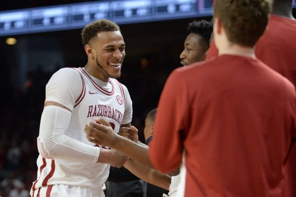 Arkansas Alabama Saturday, March 9, 2019, during the Razorbacks' 82-70 win in Bud Walton Arena in Fayetteville. Visit nwadg.com/photos to see more photographs from the game.