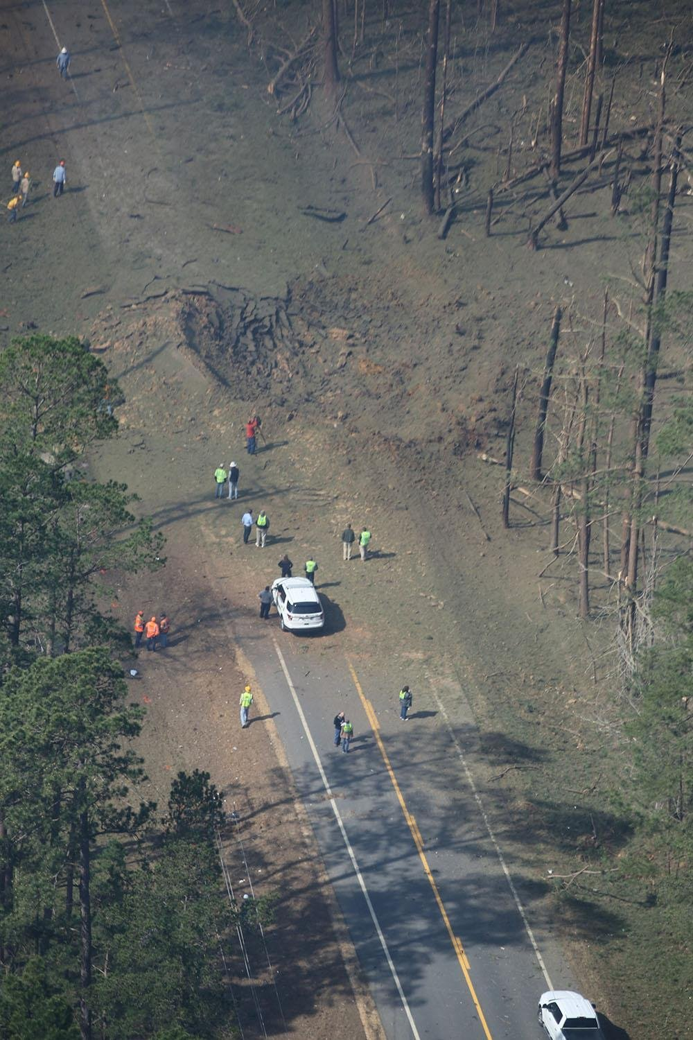 Deadly truck explosion in south Arkansas heard for miles