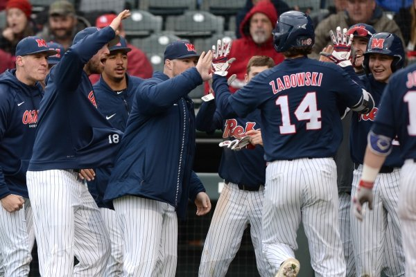 Arkansas Ole Miss Saturday, March 30, 2019, during the inning at Baum-Walker Stadium in Fayetteville. Visit nwadg.com/photos to see more photographs from the game.
