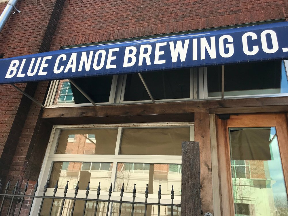 Blue Canoe Brewing, 425 E. Third St. in Little Rock's River Market District, closed late last month; one of its co-founders is part of the partnership planning to reopen it soon as Lucky Lou's. Arkansas Democrat-Gazette/Josh Snyder