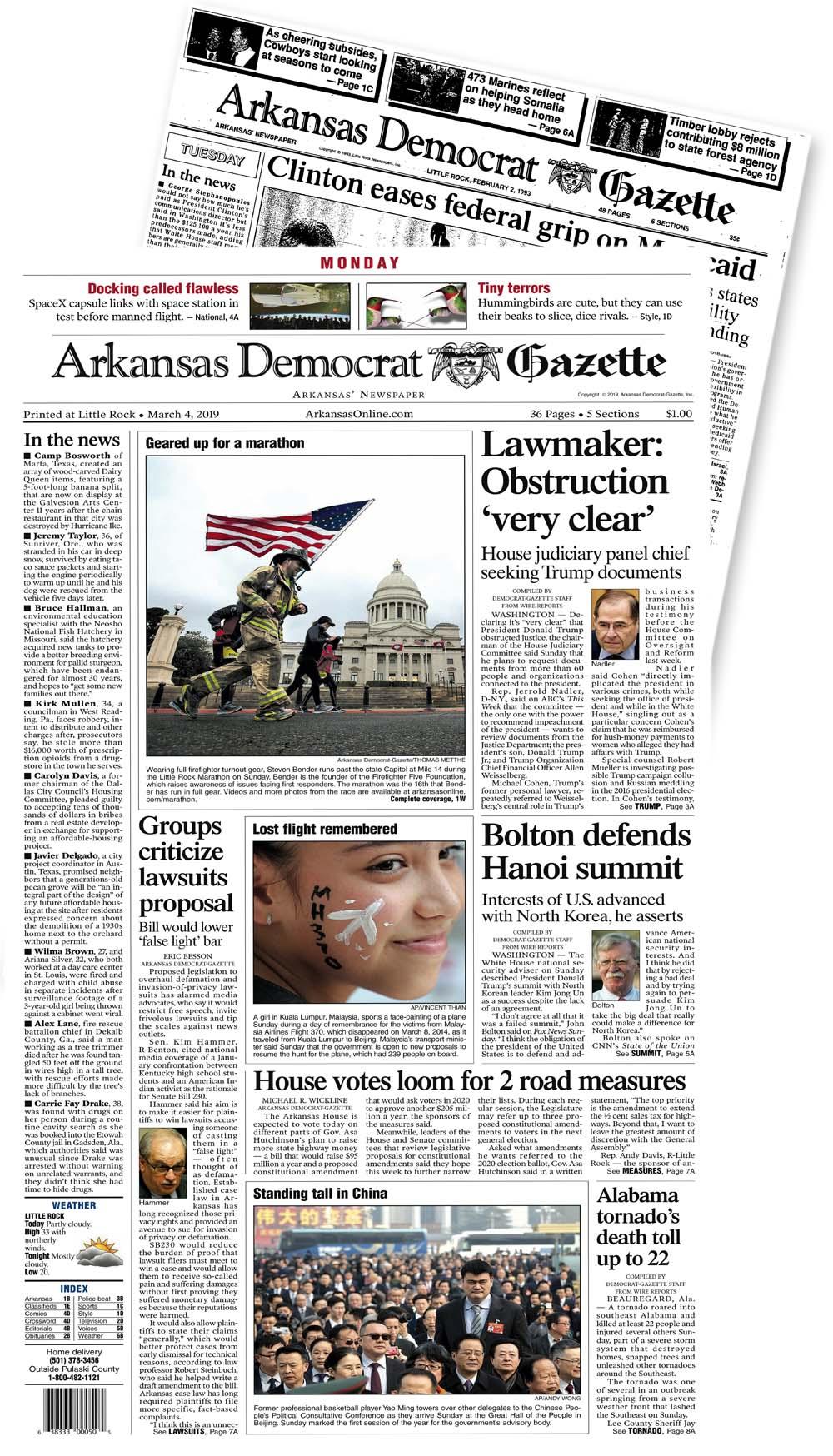 Welcome to the Arkansas Democrat-Gazette archives
