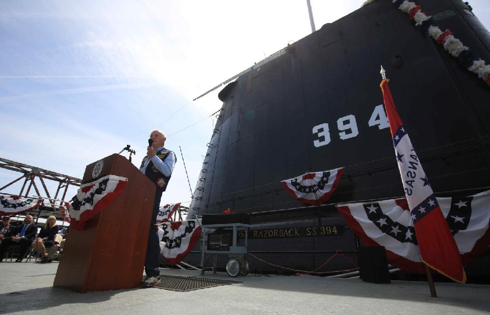 At North Little Rock event, tales told of USS Razorback's