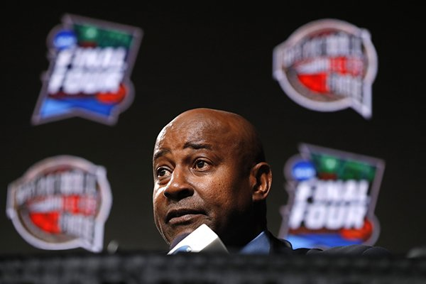 Former NBA player Sidney Moncrief speaks during a news conference after being named a member of the Naismith Memorial Basketball Hall of Fame class of 2019, Saturday, April 6, 2019, in Minneapolis. (AP Photo/Charlie Neibergall)