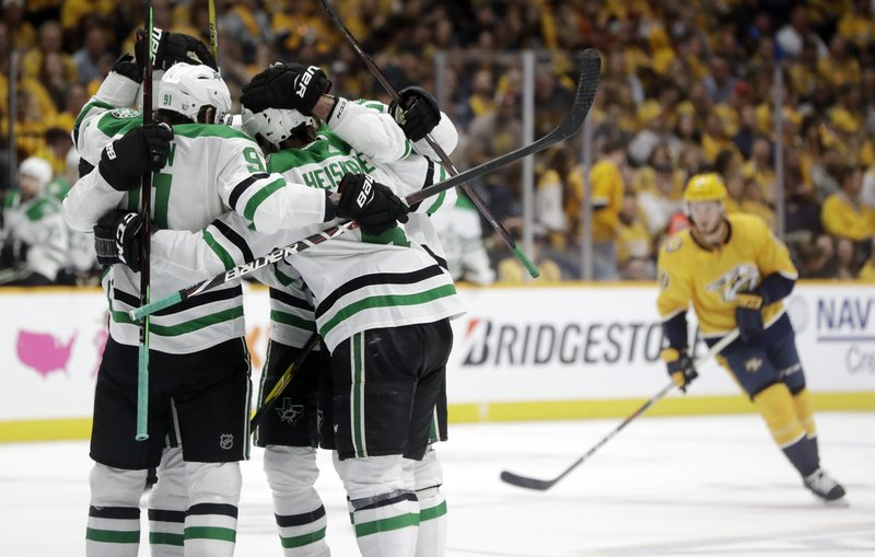 brand new b34b4 47ebc Rookie scores twice as Dallas Stars beat Nashville Predators