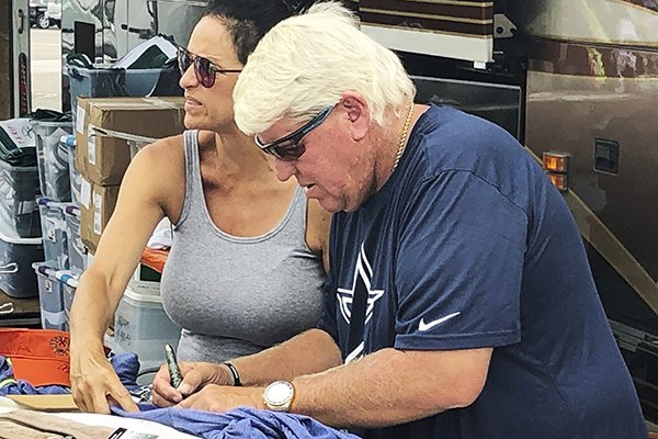John Daly Has Signs Autographs Outside A Hooters On Washington Road During The Third Round For