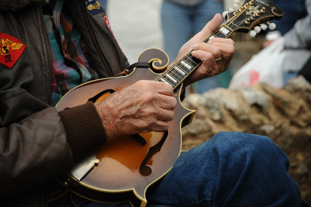 Expert musicians perform during the Arkansas Folk Festival at Mountain View. (Arkansas Department of Parks and Tourism)