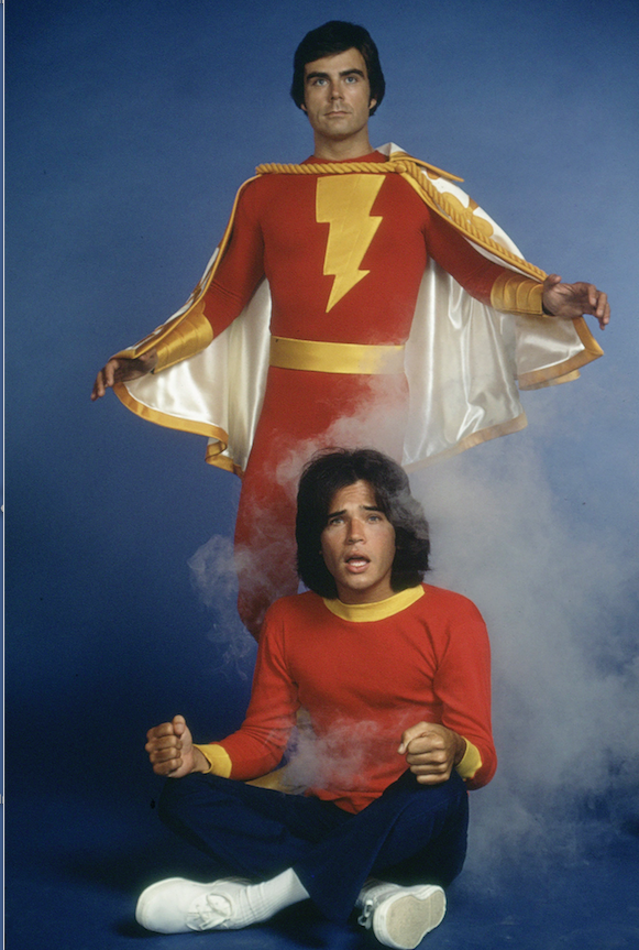Jackson Bostwick (top) and Michael Gray starred in the 1970s live-action series 'Shazam!' (DC Comics/The New York Times)