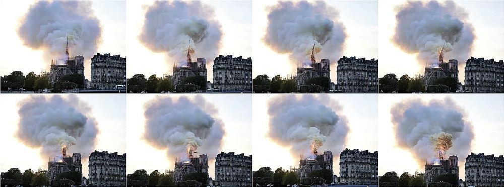 A sequence of photos taken Monday shows the collapse of the spire atop Notre Dame Cathedral in a conflagration of smoke and flames. As the devastation sank in Tuesday, people around the world shared their grief, disbelief and personal photos as they struggled to come to terms with the loss.