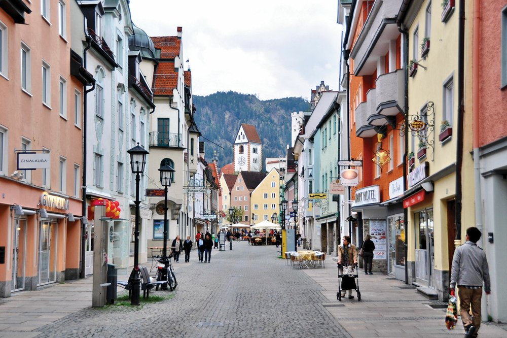 The Bavarian town of Fussen has a rich history and evocative corners beyond its cobbled core. Photo by Cameron Hewitt via Rick Steves' Europe