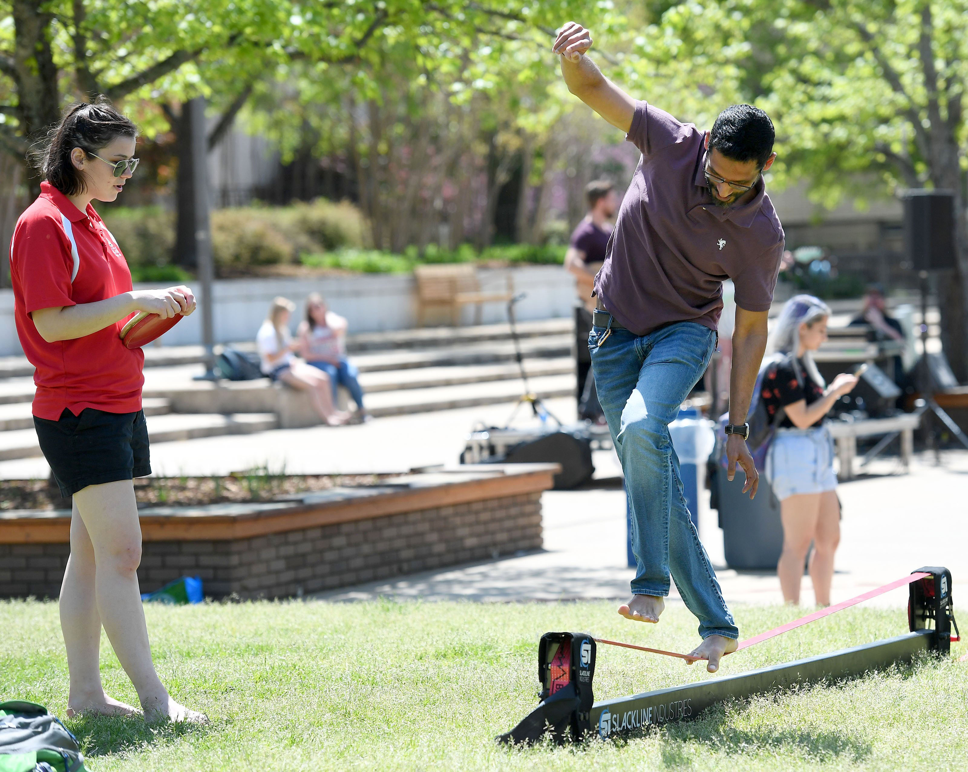 PHOTOS: Slacklining for Earth Day