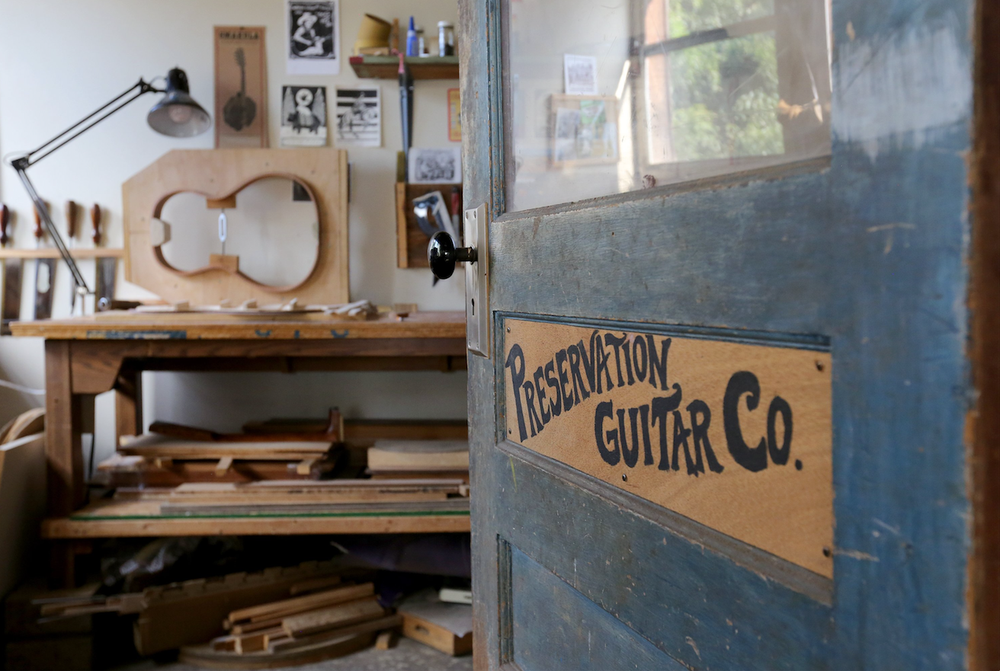 Preservation Guitar Company world headquarters near Fayetteville. (NWA Democrat-Gazette/DAVID GOTTSCHALK)
