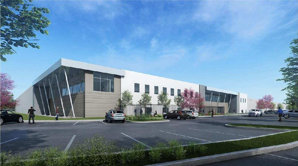 An artist's rendering shows how CZ-USA's North American headquarters and firearms production plant will look when work is complete at the 75-acre site on land owned by the Port of Little Rock. More photos are available at arkansasonline.com/424czechplant/
