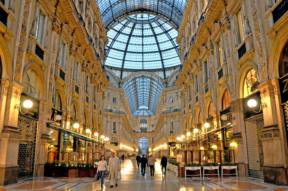 One of the world's first shopping malls, Milan's Galleria Vittorio Emanuele II still impresses today. Photo by Cameron Hewitt via Rick Steves' Europe