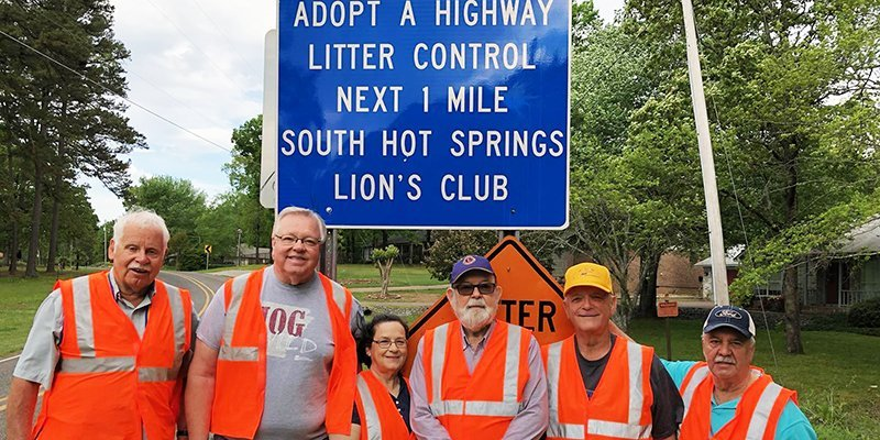 Submitted photo ADOPT A HIGHWAY: South Hot Springs Lions recently participated in the semiannual Adopt a Highway event. From left are Walt Kelly, Steve Yach, Mickey Yach, David Osborne, Lee Floyd and Sammy Mays. Not pictured is Larry Louden.