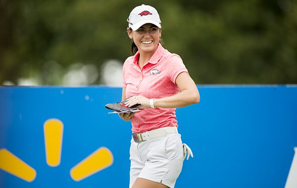 Arkansas golfer Kaylee Benton is shown during a qualifier for the LPGA Walmart NW Arkansas Championship on Monday, June 18, 2018, at Pinnacle Country Club in Rogers.