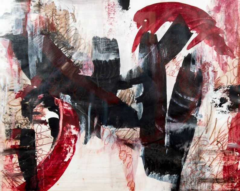 """Olevia """"Libby"""" Caston's """"Cranial Explosions,"""" a mixed media work, is one of several abstracts in the Delta Exhibition. (Courtesy of the Arkansas Arts Center)"""