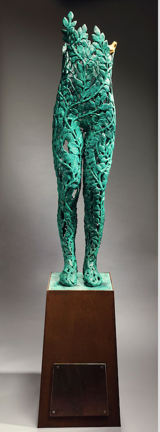 """Michael Warrick's striking bronze sculpture """"Youth"""" received an honorable mention. (Courtesy of the Arkansas Arts Center)"""