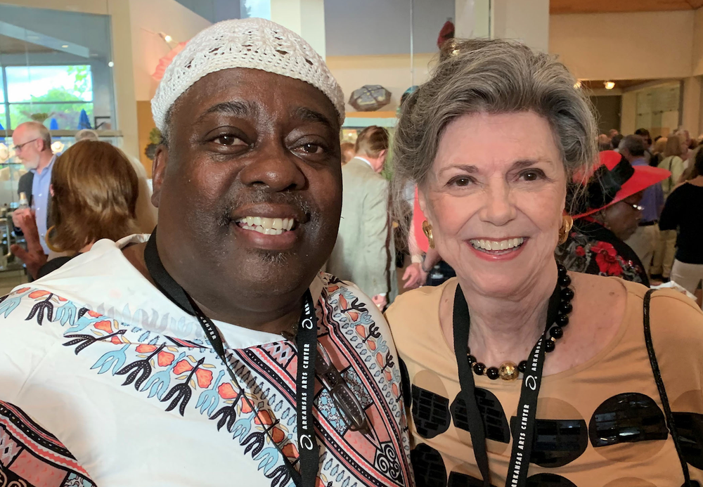 """Juror Kevin Cole and Grand Award-winner Mabry Turner attend the opening of the Arkansas Arts Center's """"61st Annual Delta Exhibition."""" (Courtesy of Clarke Huisman)"""