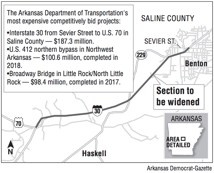$187 3M project to widen section of I-30 in central Arkansas