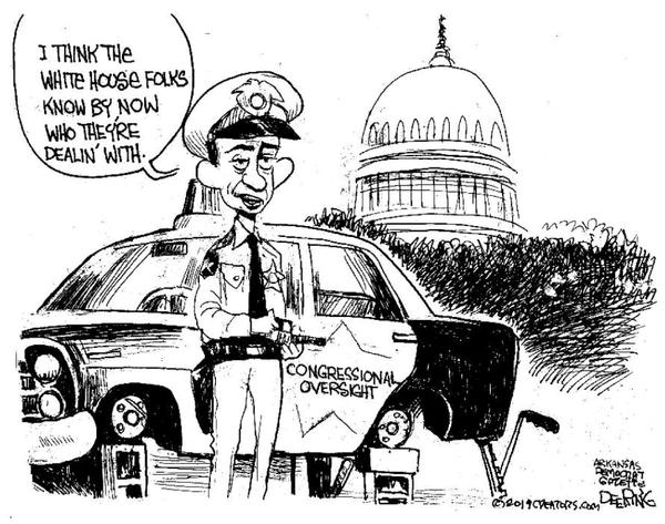 JOHN DEERING CARTOON: Congressional oversight