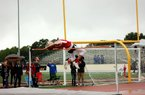 Russellville's Taelon Peter won the high jump at Saturday's Meet of Champions in Pearcy with a jump of 6 feet, 10 inches.