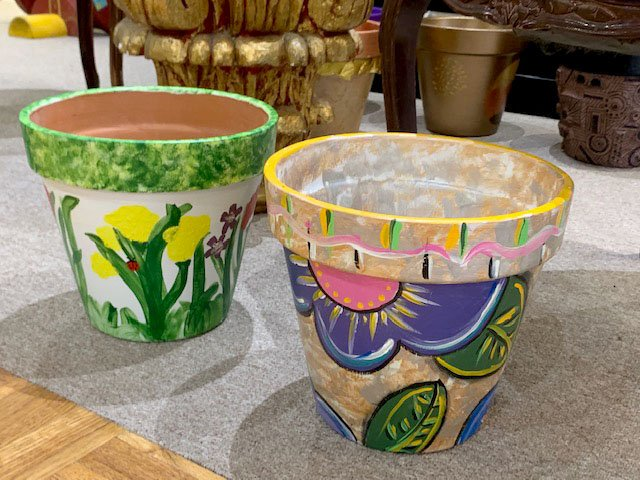 Painted: The Union County Master Gardeners are selling 26 planters painted or otherwise decorated by local artists from around Union County. Those interested in placing a bid on any of the planters may do so at Backwoods Art and Frame throughout the week. On Saturday, final bids may be placed and the highest bidders will be announced at an event at the South Arkansas Arboretum.