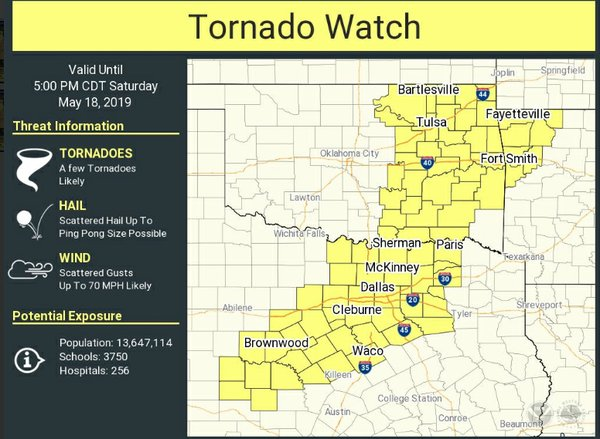 Northwest Arkansas under tornado watch