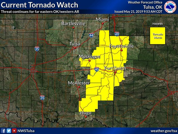 Line of thunderstorms moving into Northwest Arkansas bring chance of strong winds, tornados