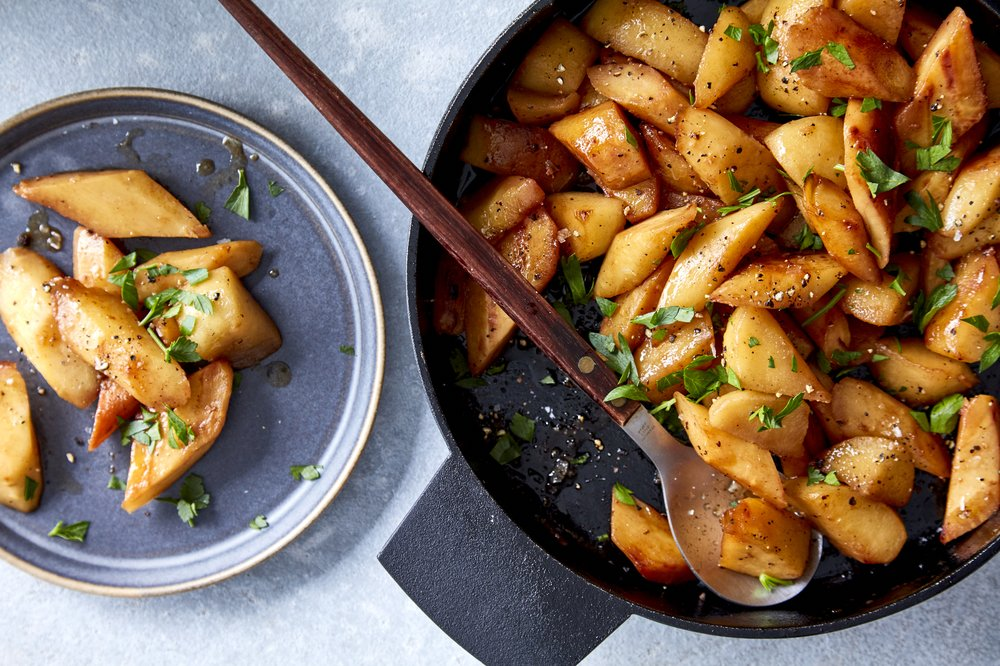 Parsnips and Apples With Marsala Photo by Romulo Yanes (The New York Times)