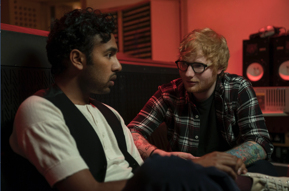 """Himesh Patel (left) and Ed Sheeran star in """"Yesterday,"""" in which a musician wakes up in a world that has never heard of the Beatles. (AP)"""
