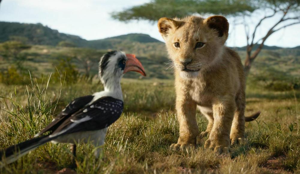 "Zazu (left) and Simba star in the Jon Favreau-directed film ""The Lion King."" (Disney)"