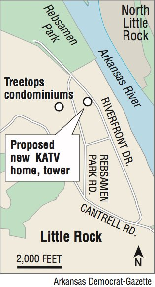 KATV spire plans in Little Rock's Riverdale neighborhood go