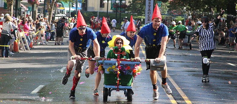 WEIRDO' SORT OF FUN: Annual Running of the Tubs draws large crowds
