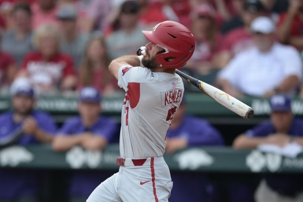 Arkansas Texas Christian Saturday, June 1, 2019, during the inning at Baum-Walker Stadium in Fayetteville. Visit nwadg.com/photos to see more photographs from the game.