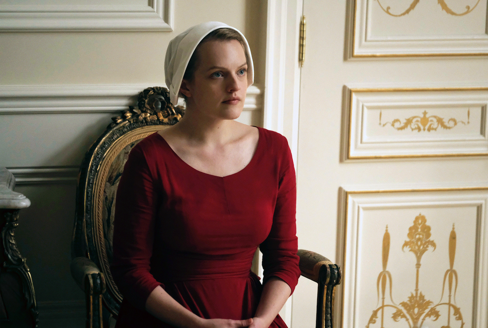 "Elisabeth Moss stars as Offred (June) in ""The Handmaid's Tale."" (AP)"