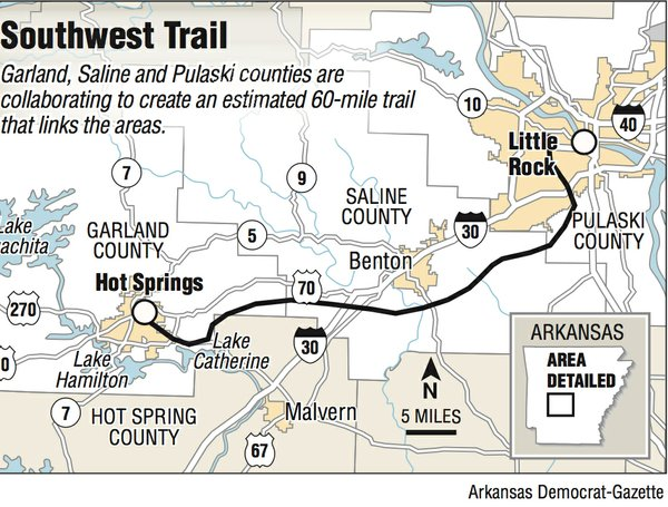Trail between Little Rock, Hot Springs proposed for debut by 2022