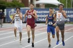 Arkansas' Cameron Griffith runs the men's 1,500-meter run during the SEC Track and Field Championships on Friday, May 10, 2019, at John McDonnell Field in Fayetteville.