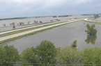 This Iowa Department of Transportation camera screenshot shows Interstate 29 at the intersection of North 200th St. in Percival, Iowa, on Tuesday, June 11, 2019. Flooding along the Missouri River has I-29 and multiple state highways closed in Missouri, Iowa and Nebraska, which will reroute many Arkansas fans driving to the College World Series this weekend.