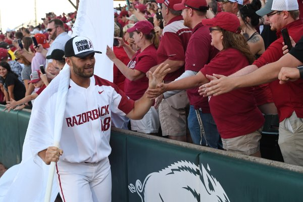 PHOTOS: Razorbacks defeat Ole Miss, advance to College World Series