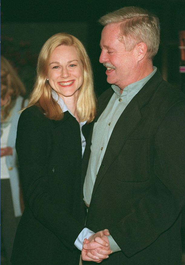 "Laura Linney and ""Tales of the City"" author Armistead Maupin were photographed in 1998 at a screening of ""More Tales of the City."" It was based on Maupin's books of the same title. (AP)"