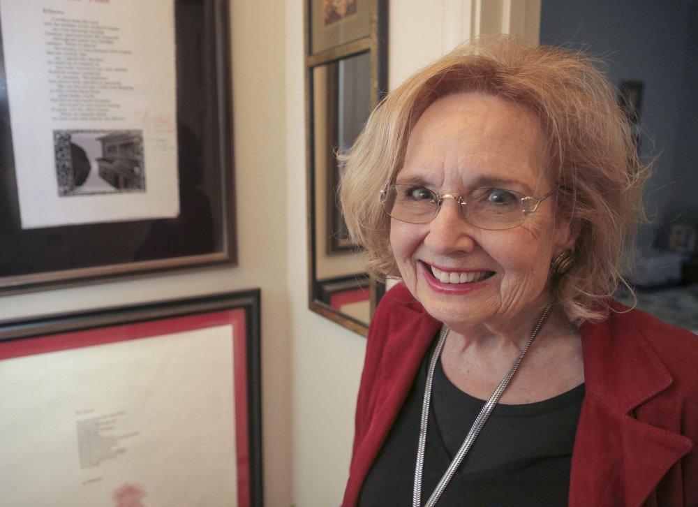 Jo McDougall, Arkansas' poet laureate, will accept a Lifetime Achievement Award from the Porter Fund at a June 20 gala at the Clinton Presidential Center in Little Rock. Arkansas Democrat-Gazette/John Sykes Jr.