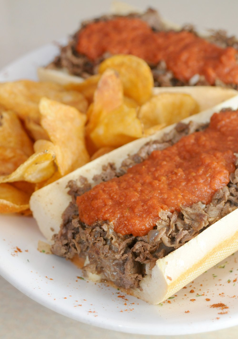 This Rocky's True Philly Cheesesteak Sandwich with marinara sauce was a big seller at Rocky's Pub when it was in the Indian Hills Shopping Center on John F. Kennedy Boulevard in North Little Rock. It's due to reopen soon in the former Jo Jo's BBQ in Sherwood. Democrat-Gazette file photo