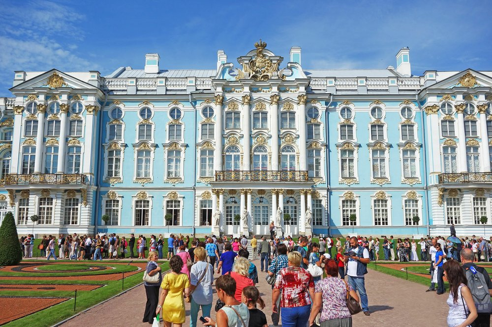 About 15 miles from St. Petersburg in the town of Pushkin, the sprawling Catherine Palace is one of the best places to experience Romanov opulence. Photo by Rick Steves via Rick Steves' Europe