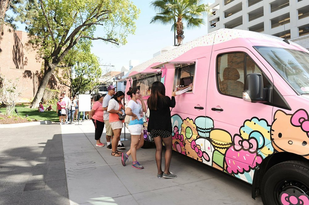 The Hello Kitty Cafe Truck will make a stop Saturday at the Promenade at Chenal. Available merchandise includes giant Hello Kitty cookies.