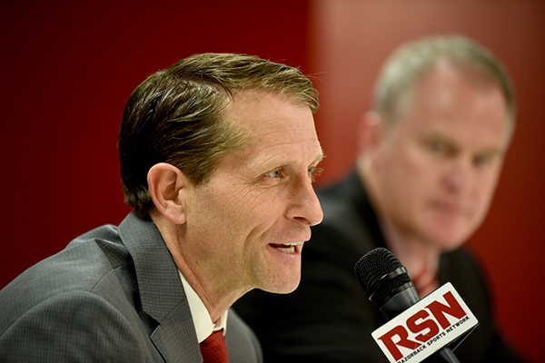 Hogs' Musselman adds son to staff