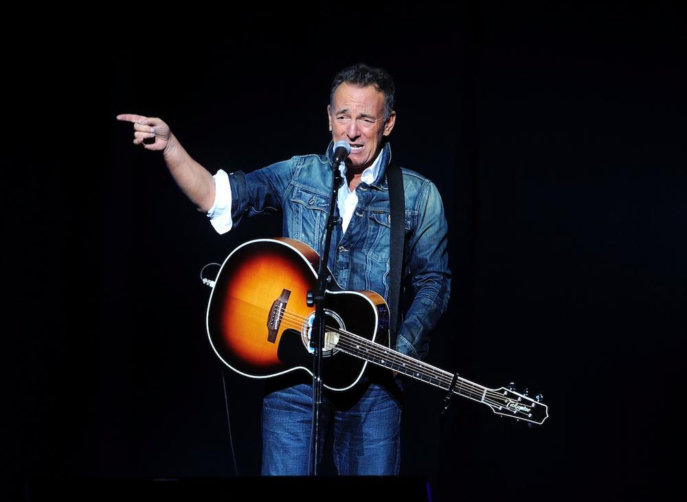 """Bruce Springsteen performs at the 12th annual Stand Up For Heroes benefit concert at the Hulu Theater at Madison Square Garden in New York in 2018. Springsteen's new studio release """"Western Stars""""breaks fresh ground for the veteran rocker, who turns his back not only on the blistering sound of the E Street Band but also abandons the haunting acoustic moods pioneered on """"Nebraska"""" and fine-tuned on later solo efforts. (AP)"""