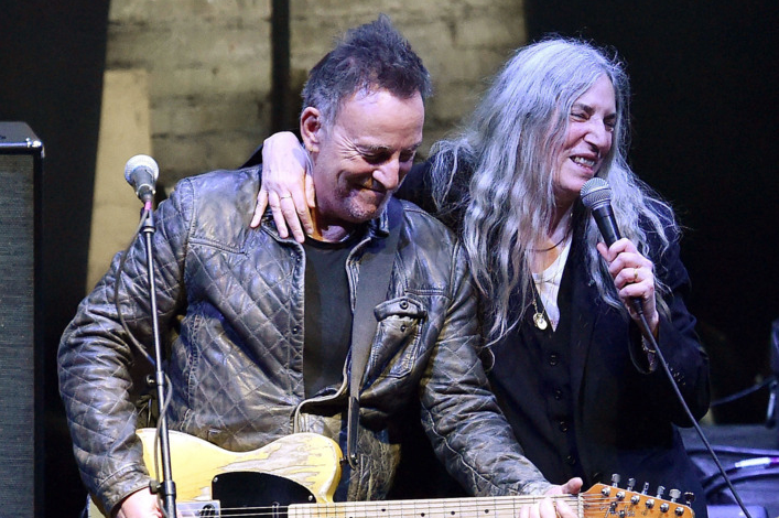 Bruce Springsteen and Patti Smith at the 2017 Tribeca Film Festival. (Courtesy Tribeca Film Festival)