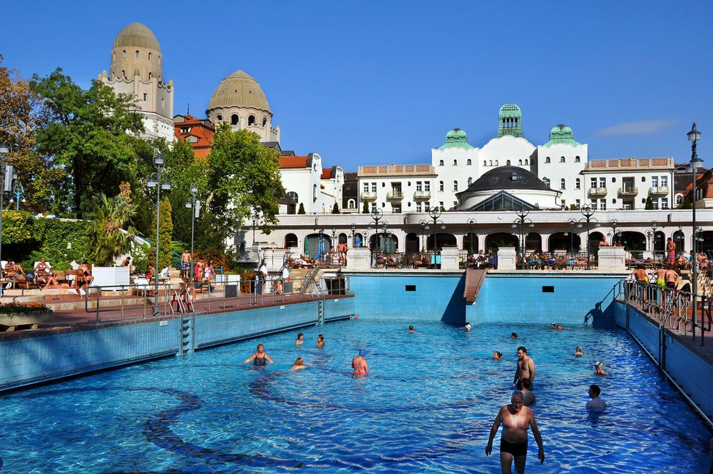 The Gellert thermal baths in Budapest offer a huge, deliriously enjoyable wave pool that'll toss you around like a surfer. Photo by Cameron Hewitt via Rick Steves' Europe