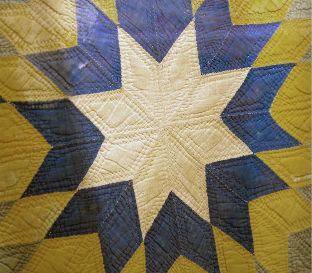 A detail from one of the quilts on display at Historic Arkansas Musem. (Arkansas Democrat-Gazette/JOHN SYKES JR.)
