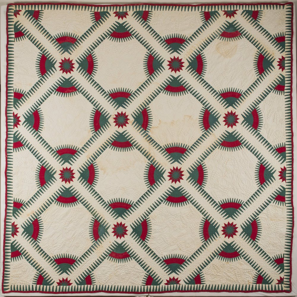 Rocky Mountain Road quilt, on display at Historic Arkansas Museum